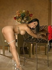 Kissa Bella in Dark Haired Asian Fox in Skin Tight Dress